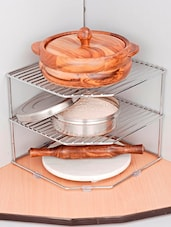 Chrome Plated Steel Kitchen Rack - Disha