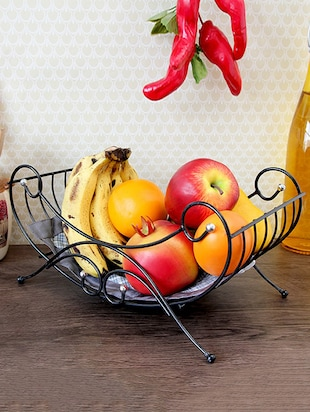 Black coated fruit basket