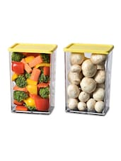 Plastic Transparent Container Set Of 2 - Disha