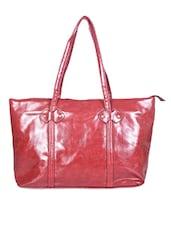 Maroon Leatherette Handbag - Senora Bags