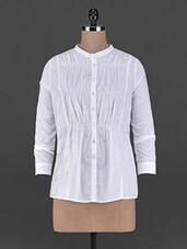 Pintuck Long Sleeves Polycotton Shirt - L'elegantae