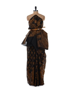Black And Gold Saree - Bunkar