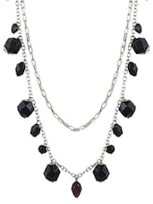 Black Metallic Beads Necklace - Blend Fashion Accessories