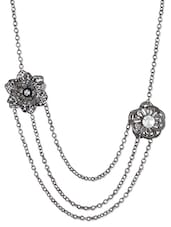 Black Metallic Studs Necklace - Blend Fashion Accessories