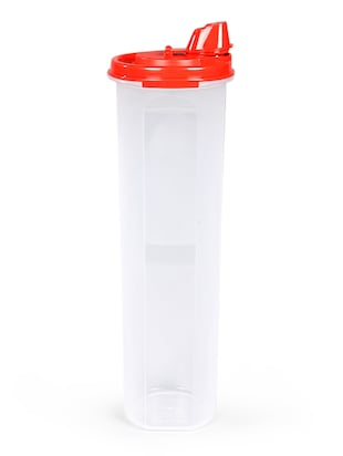 Tupperware Mega Magic Red Plastic 1.1 L Oil Dispenser with Lid