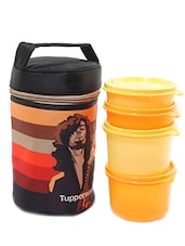 Tupperware Rocker Multicolour Plastic 4 Lunch Box with Insulated Bag  available at Limeroad for Rs.1185