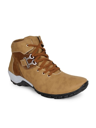 beige leatherette boot