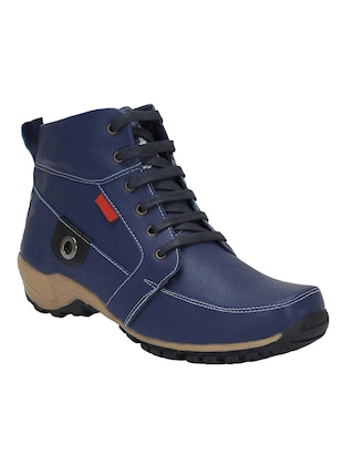 blue leatherette Low ankle boot