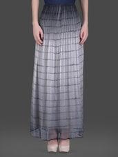 Monochrome Tie-dye Chiffon Maxi Skirt - LABEL Ritu Kumar