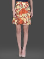 Yellow Floral Printed Flared Skirt - LABEL Ritu Kumar