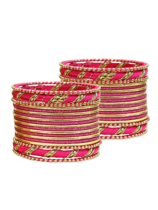 pink color, metal alloy bangles