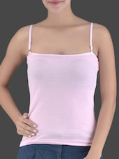 Pink Cotton Knit Camisole - Ladie Grace