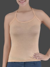 Halter Neck Knitted Viscose Lycra Top - Ladie Grace