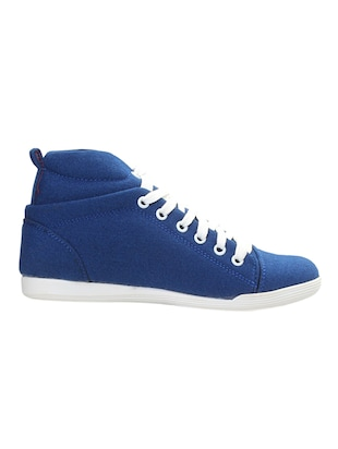 navy leatherette laceup sneakers
