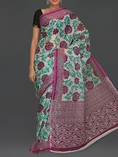 Floral With Leaf Printed Kota Saree - Komal Sarees
