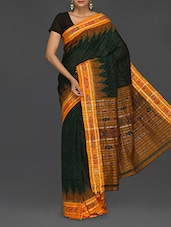 Green Cotton Sambhalpuri Katki Saree - Komal Sarees