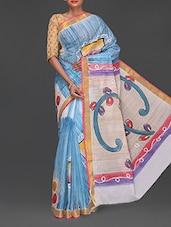 Hand Painted Handloom Cotton Saree - Komal Sarees