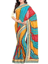 multi georgette saree  available at Limeroad for Rs.1429