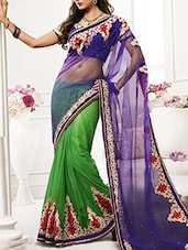 purple net saree  available at Limeroad for Rs.2041