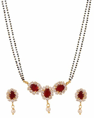 red gold plated necklace