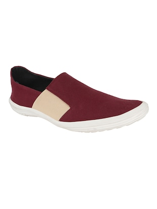 maroon canvas casual shoes -  online shopping for Casual Shoes