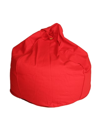 solid red cotton bean bag