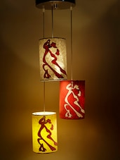 Multicoloured Dancing Couple Hanging Lamp - Craftter