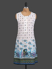 Sleeveless Rickshaw Printed Cotton Kurta - By