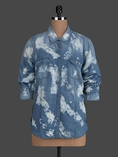 Blue And White Shaded Denim Shirt - Concepts