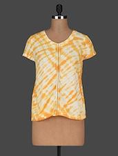 Tie & Dye Short Sleeves Cotton Top - AARDEE