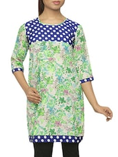 Polka Dot Printed Yoke Cotton Kurti - Pazaar Purba