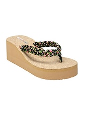 black and beige rubber wedge -  online shopping for wedges