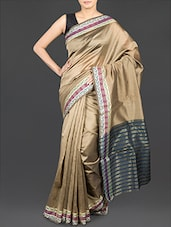 Printed Border Art Silk Saree - By