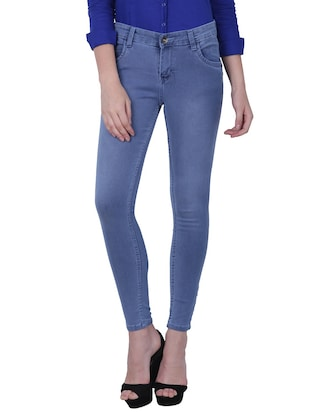 blue color, cotton jeans -  online shopping for Jeans