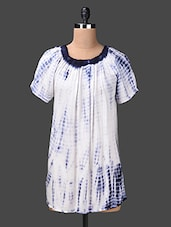 Round Neck Printed Cotton Dress - London Off