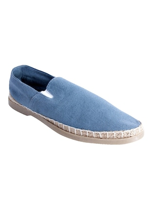 solid stone blue canvas espadrilles -  online shopping for Espadrilles