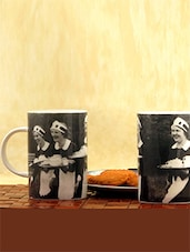 Black And White Fine Bone China Coffee Mug Set - By