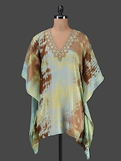 Printed Georgette Kaftan With Sequins - KYLA F