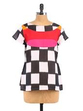 Black Printed Cotton Top - Fashion205