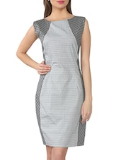 Monochrome Printed Cotton Dress With Cut-out Back - From The Ramp
