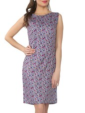 Multicoloured Floral Print Viscose Dress - From The Ramp