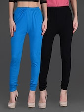 Combo Of Two Cotton Lycra Leggings - By - 1140267