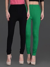 Combo Of Two Cotton Lycra Leggings - Gopps