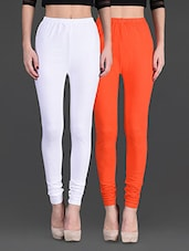 Combo Of Two Cotton Lycra Leggings - Gopps - 1140327