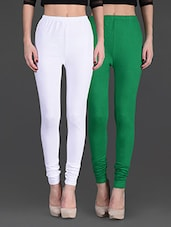 Combo Of Two Cotton Lycra Leggings - By