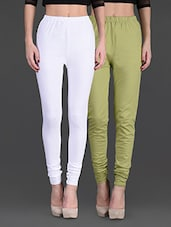 Combo Of Two Cotton Lycra Leggings - By - 1140361
