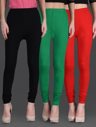 Combo of three cotton lycra leggings