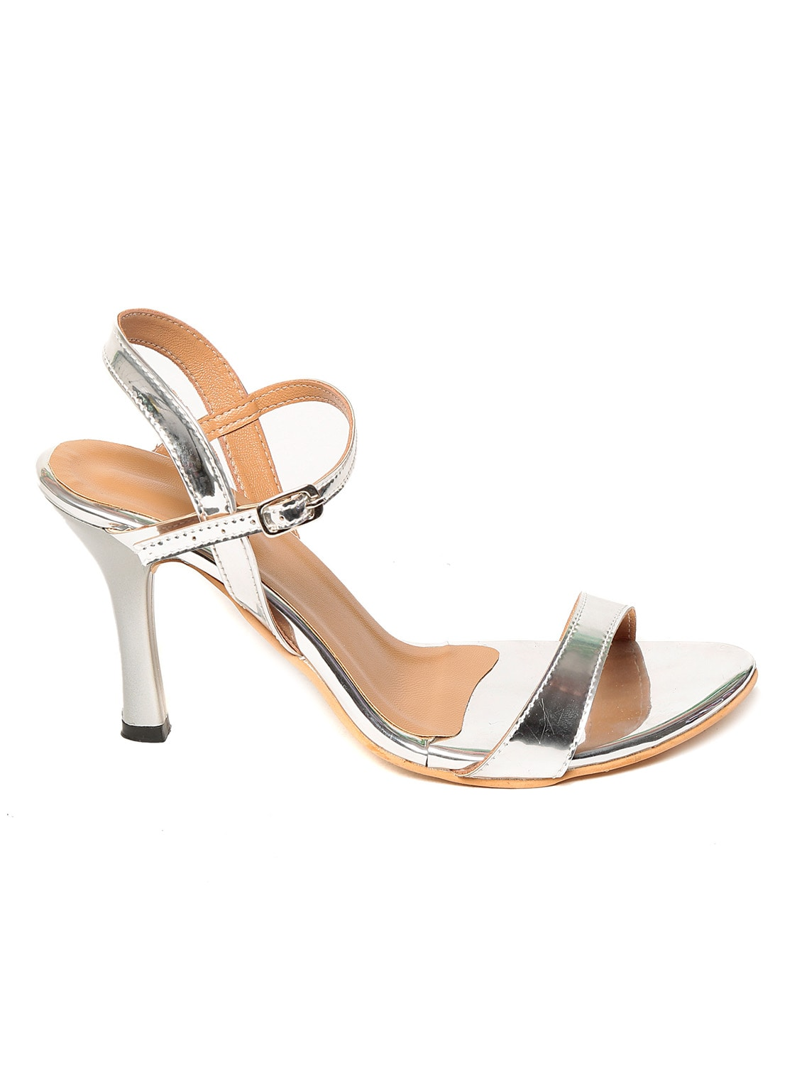 Upto 50% Off On Women Footwear By Limeroad | silver faux leather sandals @ Rs.720