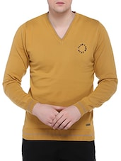 yellow cotton pullover -  online shopping for Pullovers