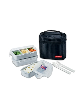 Lock&Lock Red Lunch Box Set, 2-Pieces